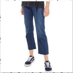 TopShop Jeans Size 28 Moto Raw Hem Dark Wash